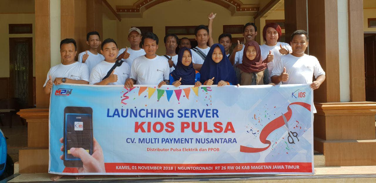 launching server kios pulsa